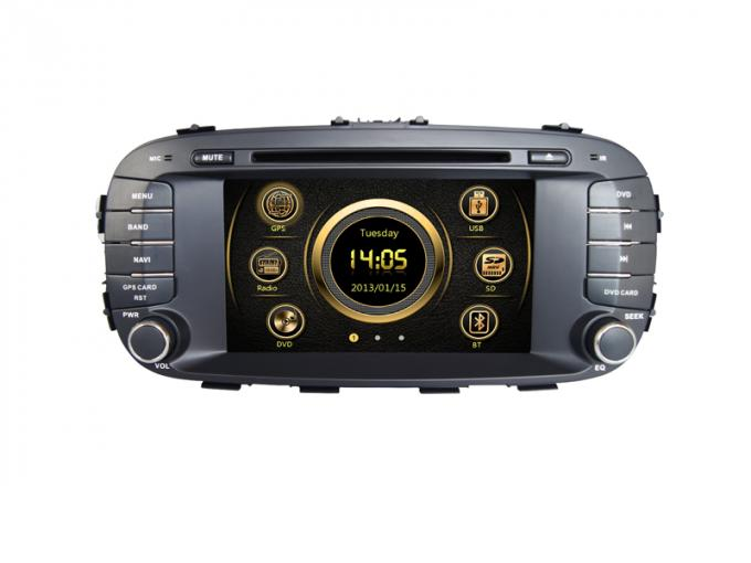 In Car DD CD Player 3G Bluetooth SWC Camera Input Aux In for KIA Soul