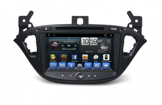 In Vehicle Infotainment Car Multimedia Navigation System / Car Dvd Player For Opel Corsa 2015