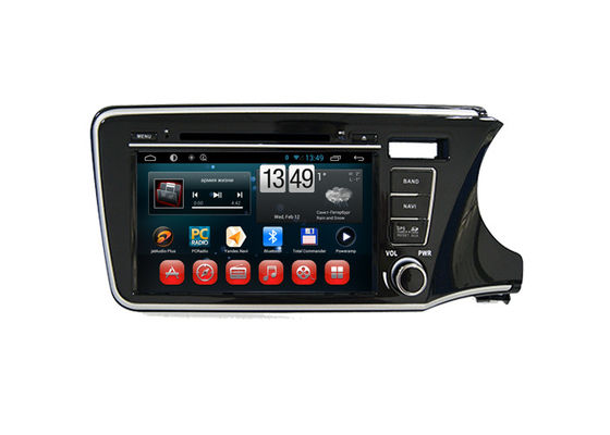 ประเทศจีน Android Radio Bluetooth Dvd Player Honda Navigation System for City 2014 Right Hand ผู้ผลิต